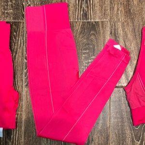 Gymshark Ultra Seamless Pink Leggings Medium